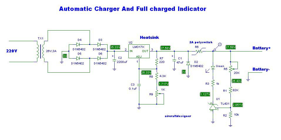The most lead acid battery charger circuit by LM317 #4 diagram.