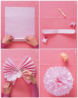 Изготовить цветы из бумаги